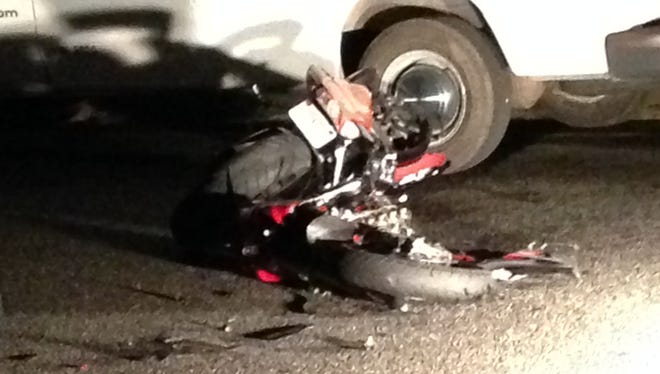 One person was killed and two were injured a motorcycle crash in Gloucester City.