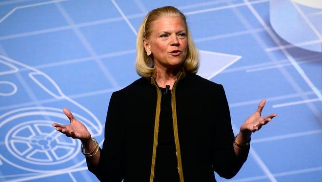 Virginia M. Rometty, CEO of IBM.