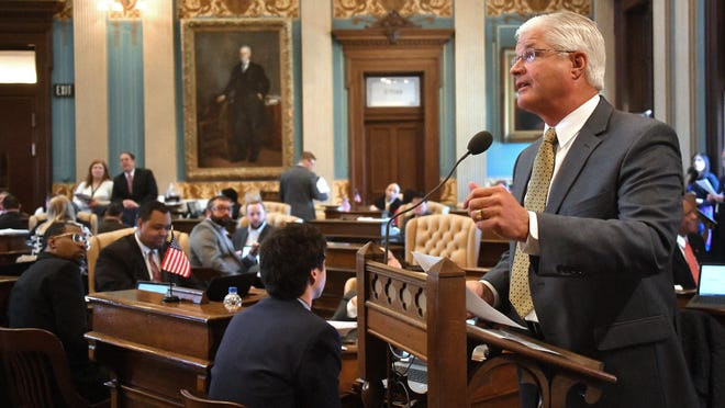 Sen. Mike Shirkey, R-Clarklake, comments on his bill, as the Michigan Senate debates and then passes a bill that will require Medicaid recipients to work every week.