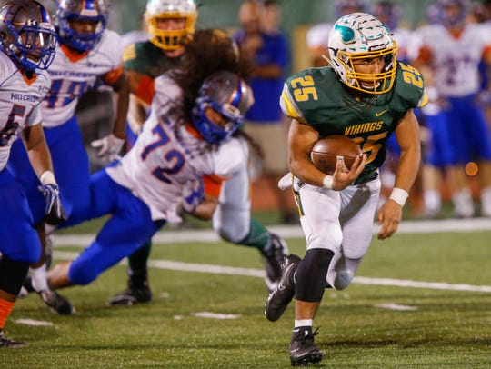 Parkview running back Blake Delacruz is first-team