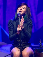 Singer Christina Grimmie performs March 2, 2016, at