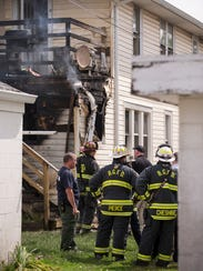 A late-morning Beech Grove apartment fire killed a toddler and left several people homeless, Wednesday, May 16, 2018.