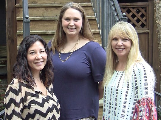 The 2016 June S. Anderson Foundation scholarship recipients at MTSU are, from left, Andrea Madison, Rebecca Craighead and Lori Grimes.