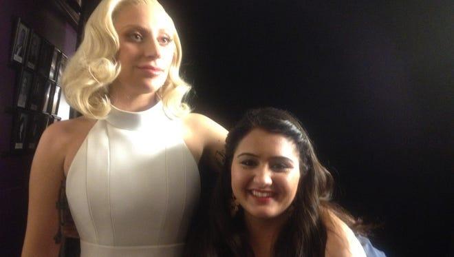 Kirat Sandhu, Brownsburg, joined Lady Gaga on stage at the Academy Awards on Sunday.