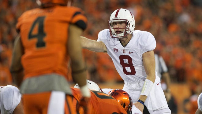 Kevin Hogan (8) and Stanford see 2014 Ohio State as a model of how to overcome an early-season loss.