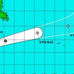Joaquin's track as of 11 p.m. Sunday