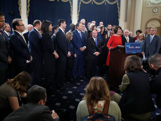 Rep. Cathy McMorris Rodgers, R-Wash., speaks at the