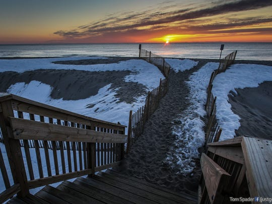 Bay Head, NJ   Sunrise on the Bay Head beach for the APP facebook page Just Go Outside NJ ~nfs02/28/2015 Photo by Tom Spader