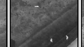 Stearns County Sheriff's Office provided these images shot by its drone as it helped lead deputies to an assault suspect hiding.