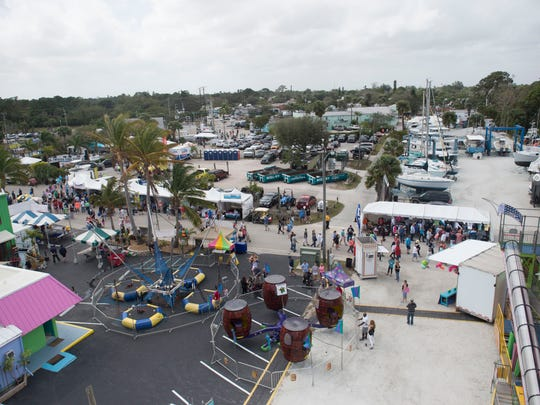 Thousands attended the 12th annual Port Salerno Seafood Festival on Saturday, Jan. 27, 2018 in Port Salerno. The one day festival featured seafood, local craft beers, live music, children's activities and vendors.