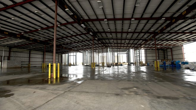 The DeepFlex building under construction at the Port of Pensacola is currently on hold.