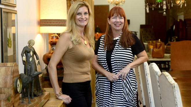 Elodie Cardon, left, and Randy Jo McKenzie, owners of On The Avenue, are bringing their imported French antiques to downtown Pensacola for the holidays. They have opened a pop-up store location at 412 South Palafox Street in the SOGO district.