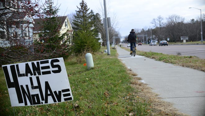 Many residents along North Avenue oppose a city plan to study whether limiting the road to three lanes will improve safety for cars and cyclists.