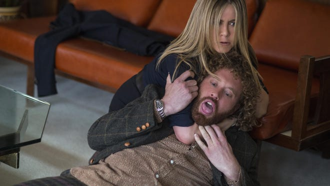 """Jennifer Aniston and T.J. Miller star in """"Office Christmas Party."""""""