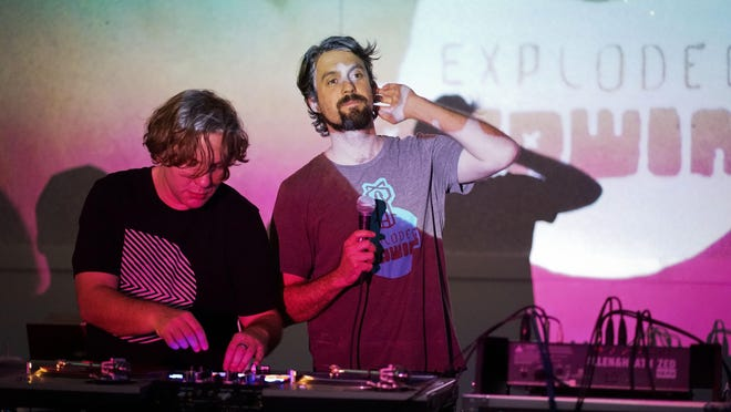 Ben Webster a.k.a. Butcher Bear (L) and Andrew P. Brown a.k.a. Soundfounder launched Exploded Drawing in 2010 to explore the world of creative beat-making. On Friday, they host a virtual bash to celebrate the party's 10th anniversary.