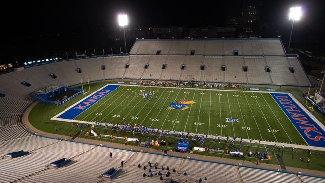 "Citing the ""ongoing surge"" in COVID-19 cases and hospitalizations in the region, Kansas announced Tuesday that it will not allow fans into David Booth Kansas Memorial Stadium for the Jayhawk football team's final two home contests. After Wednesday's postponement of their upcoming matchup with Texas, the Jayhawks will next play TCU at 7 p.m. Nov. 28."