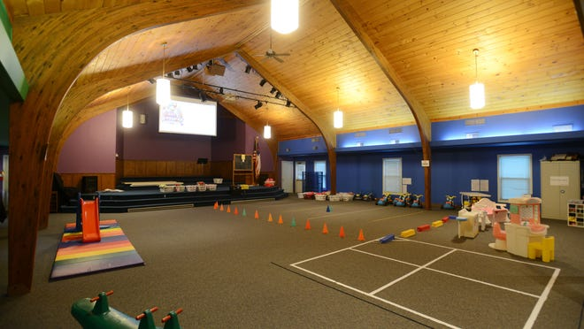 The original sanctuary of the North Terrace Church of Christ is now used as a preschool room, as well as hosting youth church functions during the weekend.