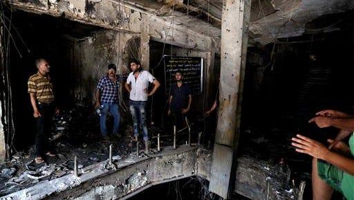 Scene of bombing in Baghdad