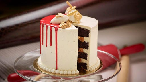 This Jan. 16, 2017 photo provided by The Culinary Institute of America shows a Chocolate Tower Cake in Hyde Park, N.Y. This dish is from a recipe by the CIA.