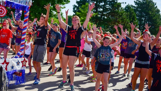 Members of Ankeny Dance perform on Saturday, July 9, 2016, during the Ankeny SummerFest Grand Parade.