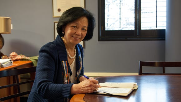 Chancellor Phyllis Wise in her office at the Swanlund Administration Building (Walbert Castillo/USA TODAY College)