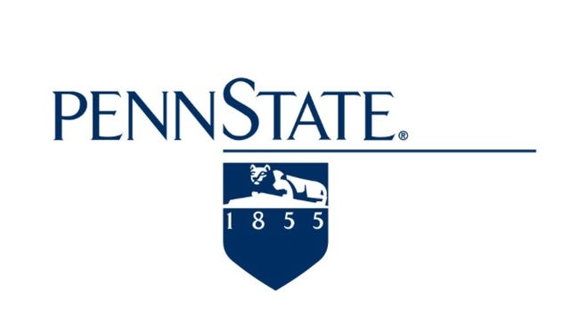 The logo of Pennsylvania State University, founded in 1855.