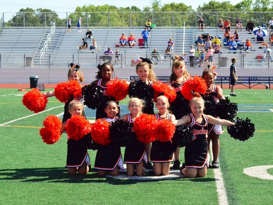 The Rockets Cheer program includes kids ages in 1st through 8th grade.