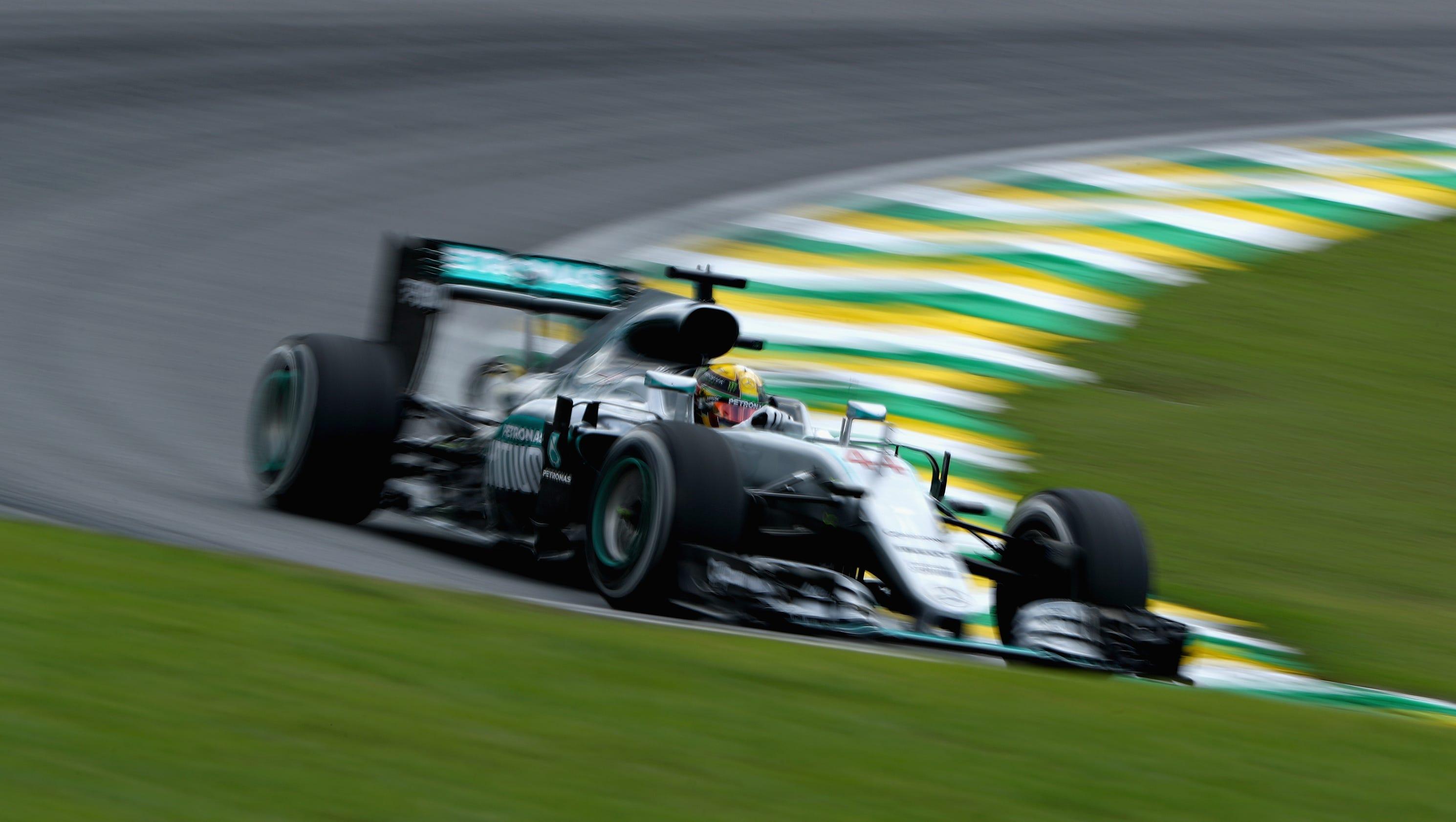Lewis Hamilton has edge on Nico Rosberg in Brazilian GP ...