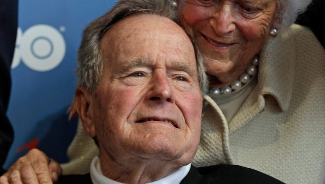 Former President George H.W. Bush and his wife, Barbara