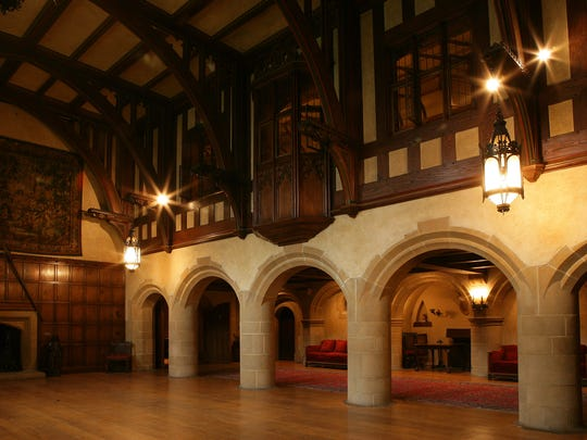 Knights and ladies from centuries past would feel right at home in the ballroom at Meadow Brook Hall in Rochester.