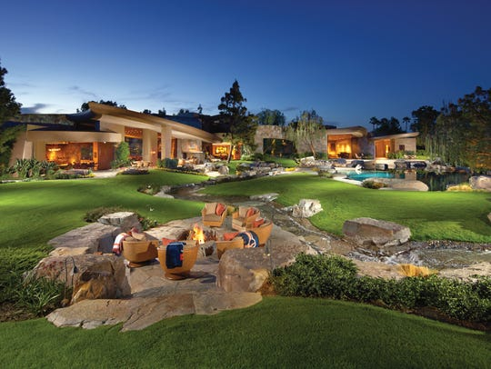 This mansion sits on the golf course at La Quinta's