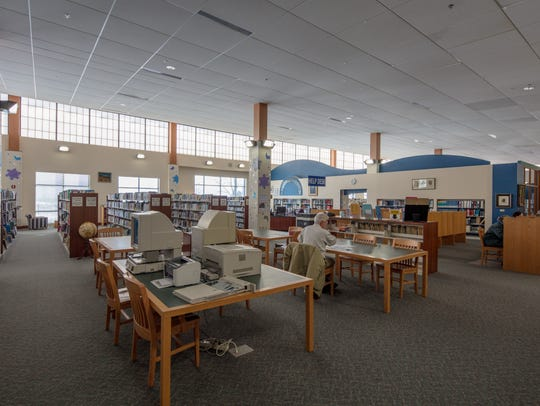 Interior of Lester Public Library in Two Rivers.