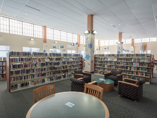 Inside Two Rivers' Lester Public Library.