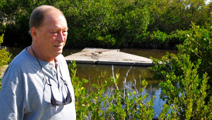 State money for cleaning up debris and boats in the river from Hurricane Matthew is drying up. Ed Remeika, who lives on the Indian River on north Merritt Island found someone's deck floating in the lagoon behind his house after Hurricane Matthew.