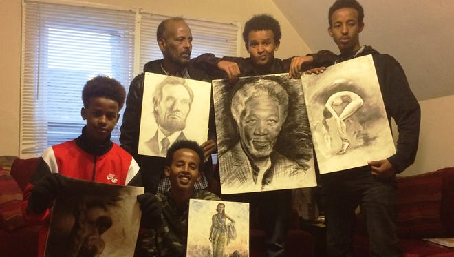 A family of Somali refugees with a passion and talent for art have relocated to Sheboygan. With their basic needs met, the family is asking for art supplies to continue their craft.