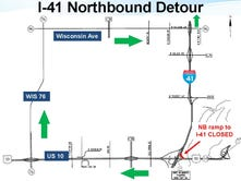 I-41 ramp closure prompts long detour