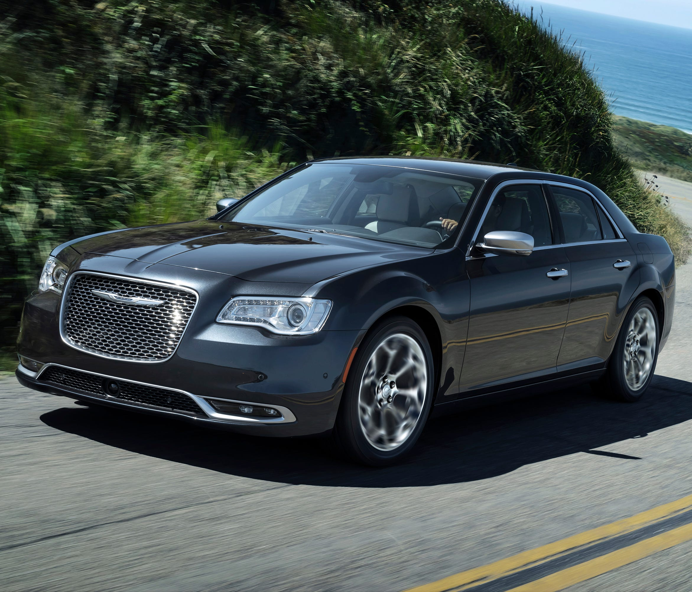 This photo provided by Fiat Chrysler shows the 2018 Chrysler 300, a vehicle that has a significant discount going into Memorial Day weekend. This large sedan has bold styling, a quiet ride and modern tech.