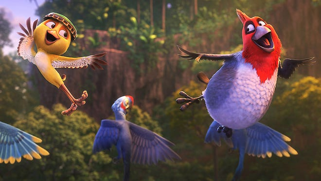 Nico (Jamie Foxx) and Pedro (will.i.am) are flying high in Rio 2.