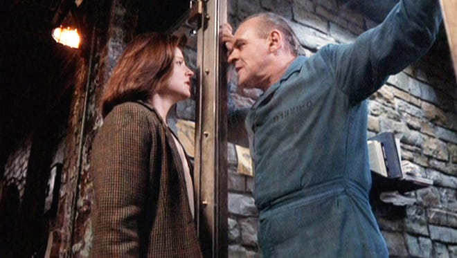 Jodi Foster (left) and Anthony Hopkins in a scene from the 1991 thriller 'The Silence of the Lambs.'