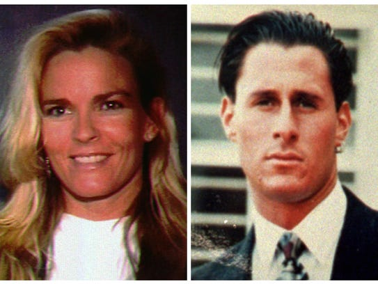 Nicole Brown Simpson, left, and Ron Goldman.