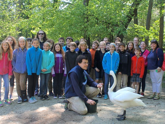 Stephanie Krisulevicz's 5th grade class poses with