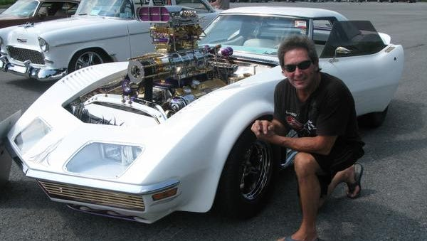 Joe Barra is seen Sunday with his 1972 Chevy Corvette at the Marc W. Kelley Memorial Car & Bike Show in Poughkeepsie.
