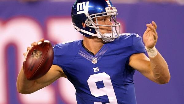 Giants backup quarterback Ryan Nassib passes against the Pittsburgh Steelers during the second half Saturday night at MetLife Stadium.