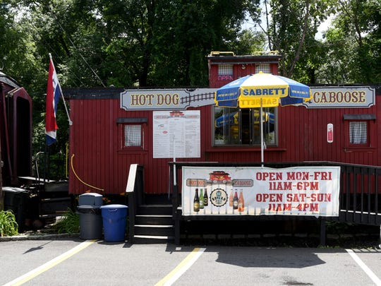 The Hot Dog Caboose in Midland Park.
