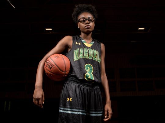 Mardela High School junior guard Kayla Cook poses for