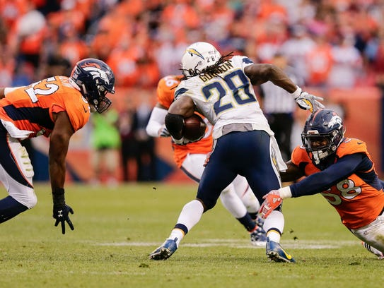 Los Angeles Chargers running back Melvin Gordon will