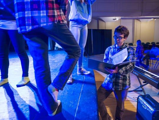"Musical director Randal Pierce rehearses ""Brundibar:"