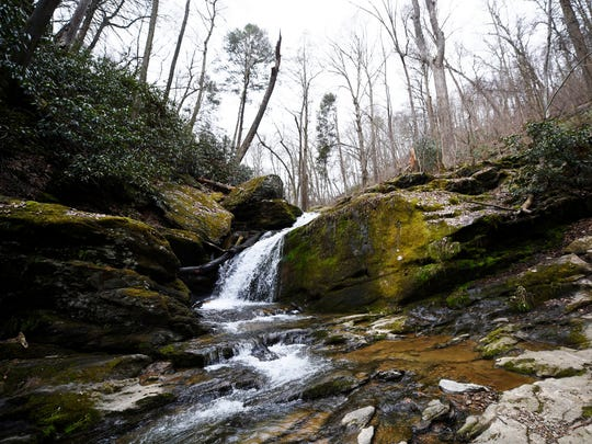Mill Creek Falls, about a half mile hike up on the Mason-Dixon Trail in Lower Chanceford Township.