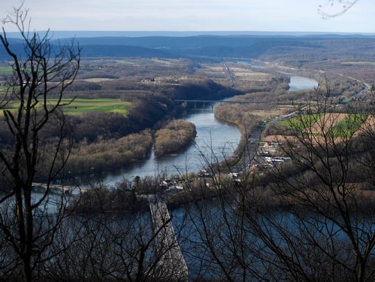 The view of the Susquehanna River from the Appalachian