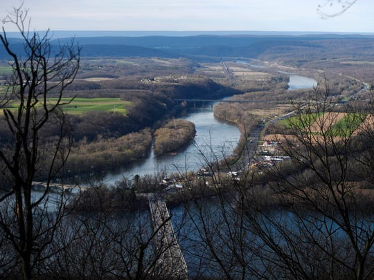 The view of the Susquehanna River from the Appalachian Trail on Peter's Mountain just north of Harrisburg.